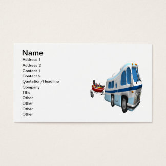 Road And Boat Trip Business Card