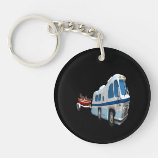 Road And Boat Trip Key Chain