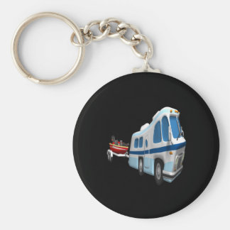 Road And Boat Trip Keychain