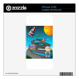 Road and monsters skins for iPhone 4S