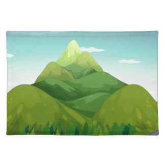 Road and mountain cloth placemat