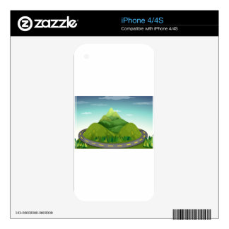 Road and mountain iPhone 4S decals