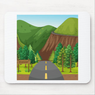 Road and mountain mouse pad