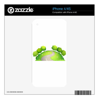 Road and nature skin for the iPhone 4