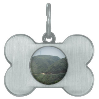 road and scenery pet ID tag