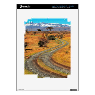 Road And Snow-Capped Cathedral Range, Champagne iPad 3 Decal