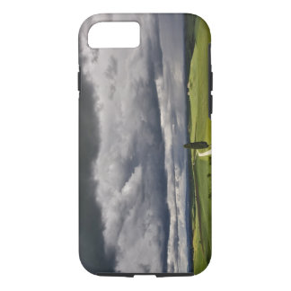 Road and storm clouds, rural Tuscany region, iPhone 7 Case