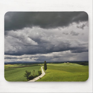 Road and storm clouds, rural Tuscany region, Mousepads