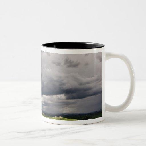 Road and storm clouds, rural Tuscany region, Mug