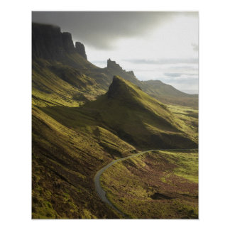 Road ascending The Quiraing, Isle of Skye, Poster