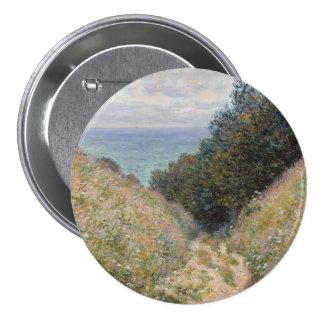 Road at La Cavee Pourville by Claude Monet Button