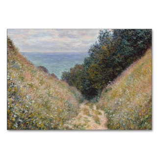 Road at La Cavee Pourville by Claude Monet Card