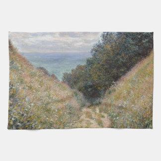 Road at La Cavee Pourville by Claude Monet Towel