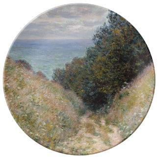 Road at La Cavee Pourville by Claude Monet Porcelain Plates