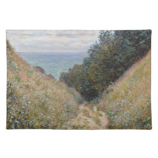 Road at La Cavee Pourville by Claude Monet Place Mat