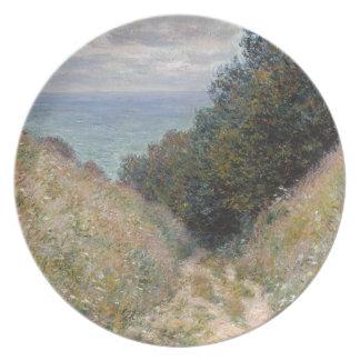 Road at La Cavee Pourville by Claude Monet Plate