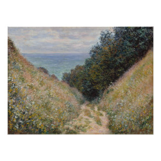 Road at La Cavee Pourville by Claude Monet Poster