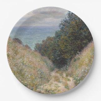 Road at La Cavee Pourville by Claude Monet 9 Inch Paper Plate