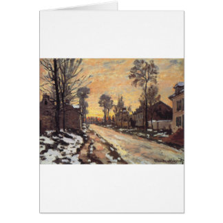 Road at Louveciennes, Melting Snow, Sunset Card