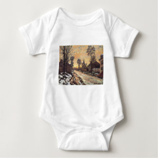 Road at Louveciennes, Melting Snow, Sunset Tee Shirt