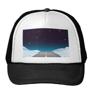Road at night trucker hat