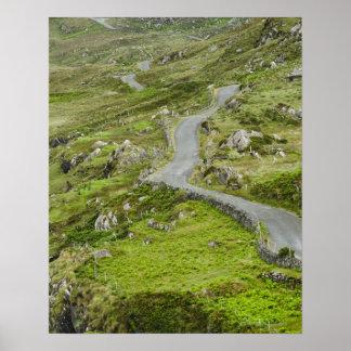 Road between Ballaghacahreen and Caherkeen. Poster