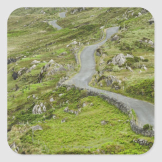 Road between Ballaghacahreen and Caherkeen. Square Sticker