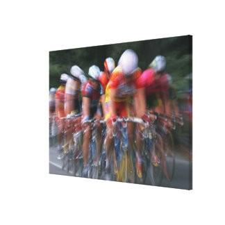 Road bicycle racing gallery wrapped canvas