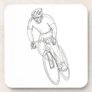 Road Bicycle Racing Doodle Coaster