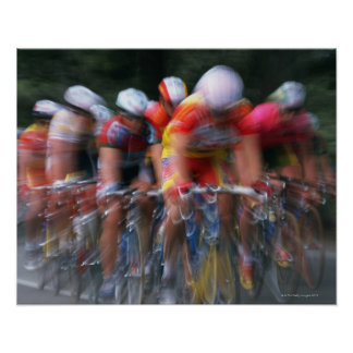 Road bicycle racing poster