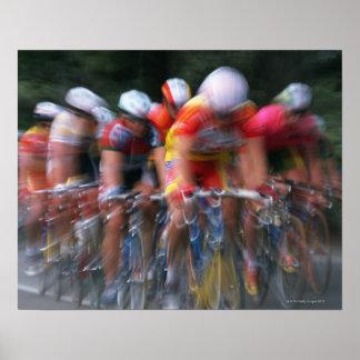 Road bicycle racing poster