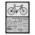 Road Bike - Bicycle in Different Languages Poster