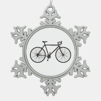 Road Bike, Bicycle, Snowflake Ornament