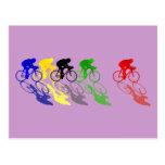 Road Bike Road Racing  Cycling Postcard