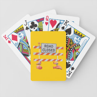 Road Block Bicycle Playing Cards