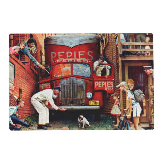 Road Block by Norman Rockwell Placemat