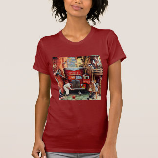 Road Block by Norman Rockwell T-Shirt