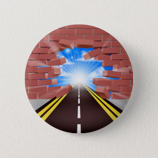 Road Breaking Through Wall Button