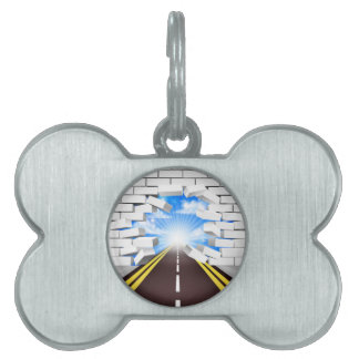 Road Breaking Wall Concept Pet ID Tag