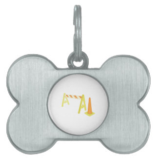 Road Caution Pet Name Tags