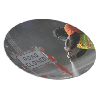 Road Closed Dinner Plate