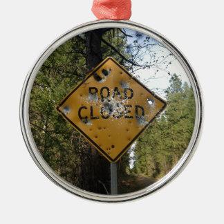 Road Closed Sign Ornaments