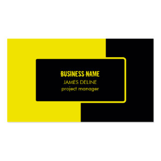 Road Construction Black Yellow Double-Sided Standard Business Cards (Pack Of 100)