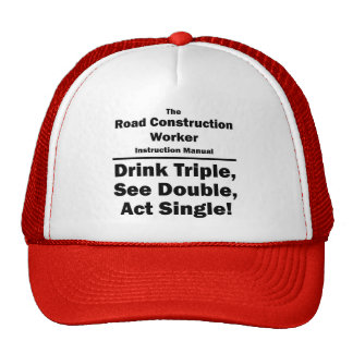 road construction worker mesh hat