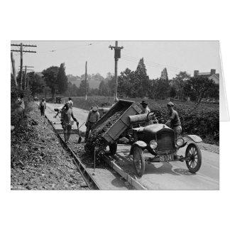 Road Crew at Work, 1925 Greeting Card