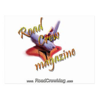 "Road Crew Music Magazine ""Roadie Gear"" Post Card"
