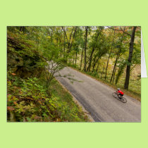 Road Cycling On Rural Country Road Card