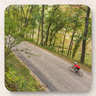 Road Cycling On Rural Country Road Drink Coaster