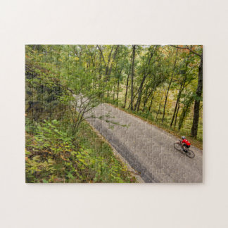 Road Cycling On Rural Country Road Jigsaw Puzzle