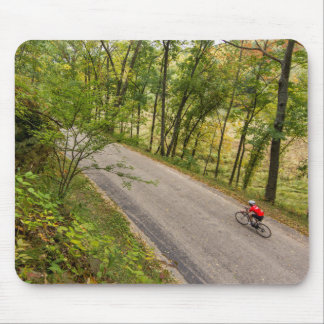 Road Cycling On Rural Country Road Mouse Pads